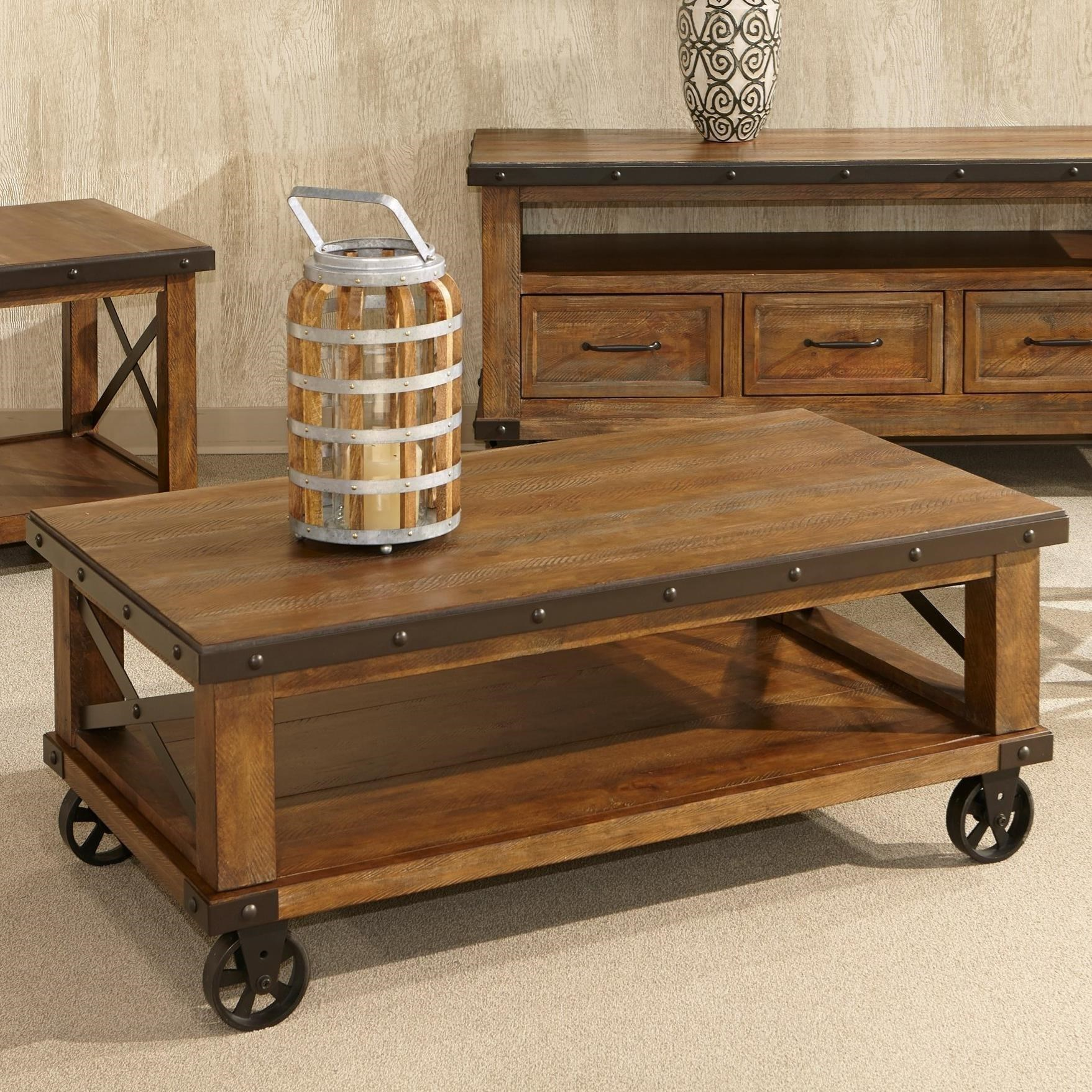 Intercon Taos Rustic Coffee Table With Casters