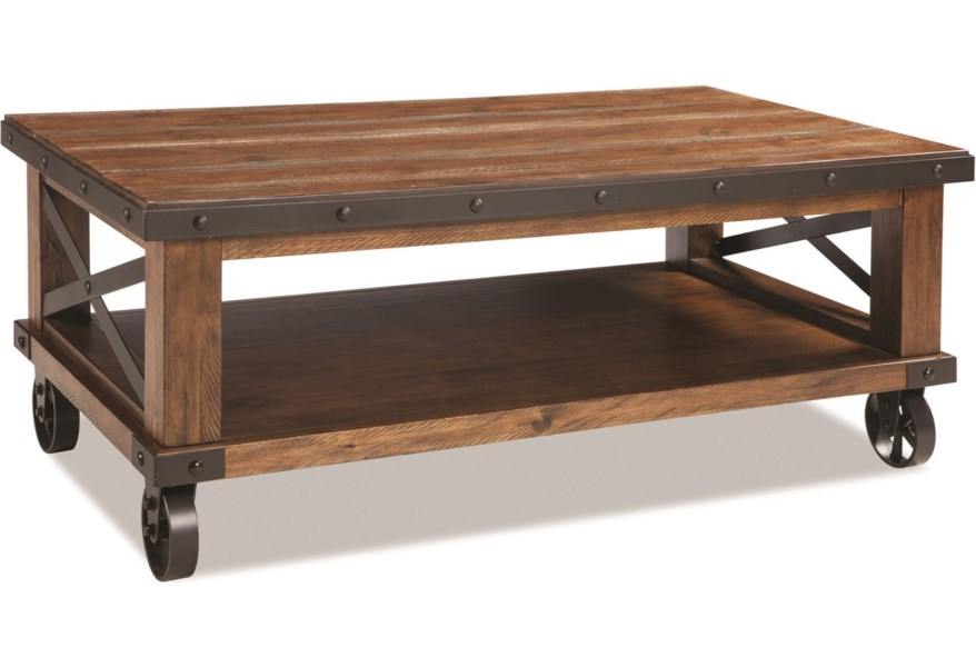 Intercon Taos Rustic Coffee Table With Casters Fisher Home
