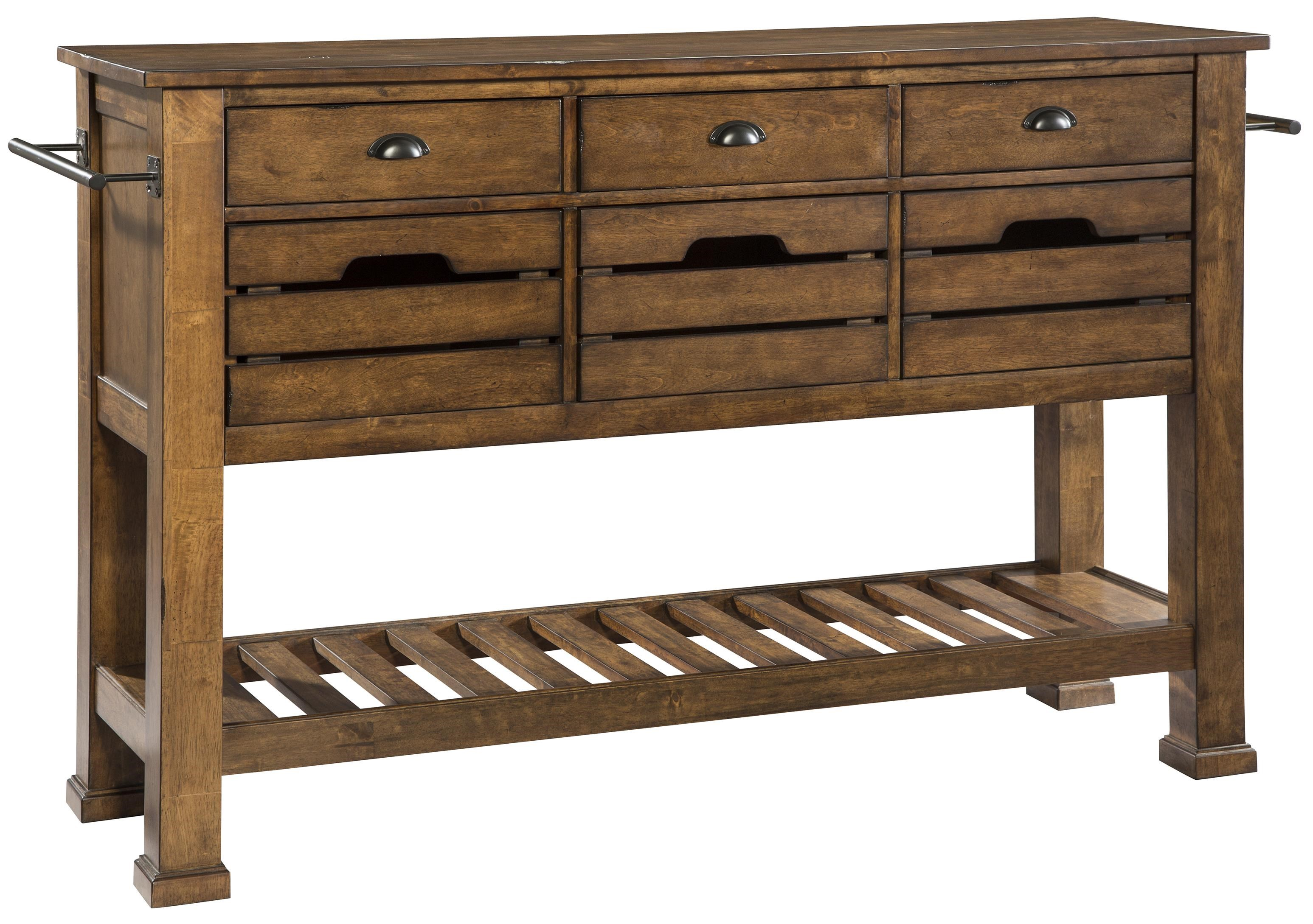 Intercon The District Sideboard With Tall Legs
