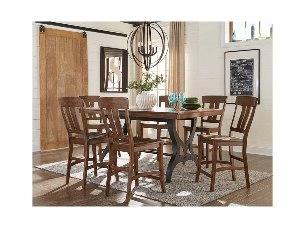 Intercon The District Gathering Height Dining Table with Leaf ...