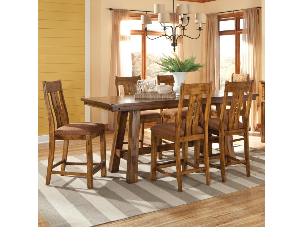 Intercon timberline 7 piece gathering table and stools set intercon timberline7 piece pub table set watchthetrailerfo