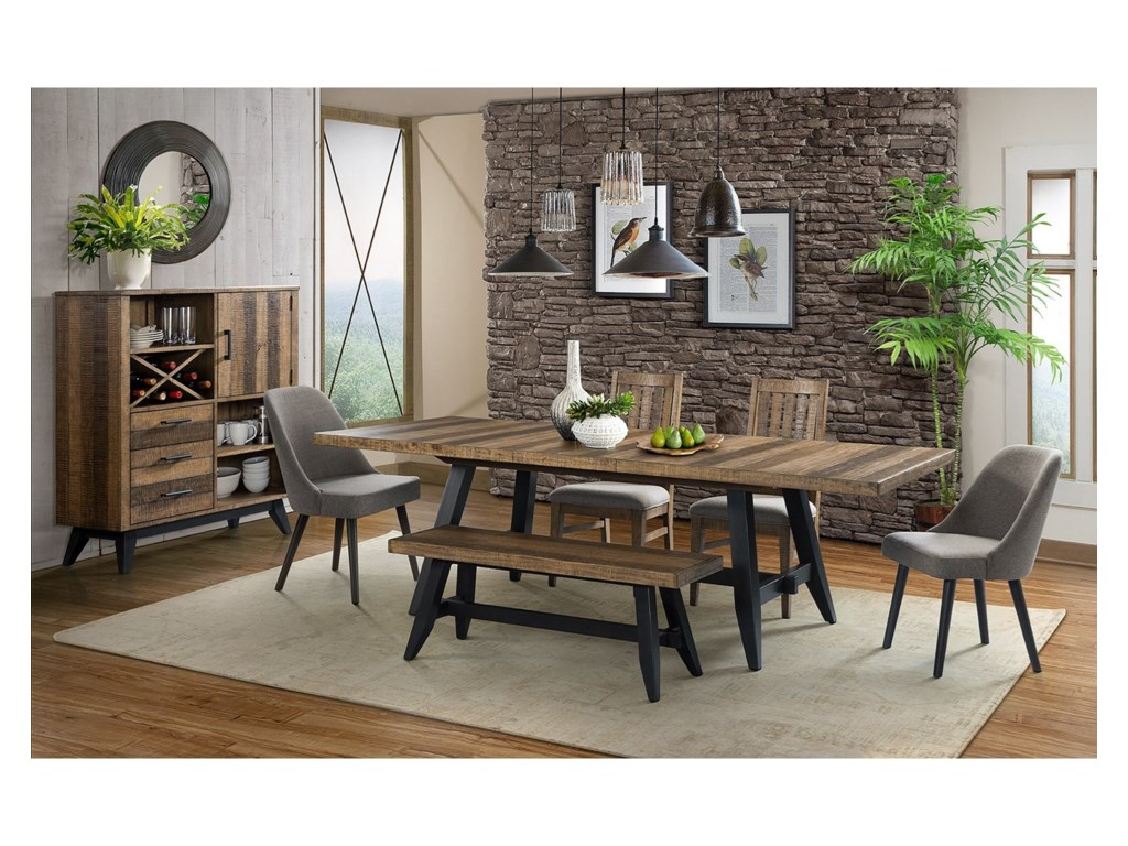 Intercon Urban Rustic Formal Dining Room Group