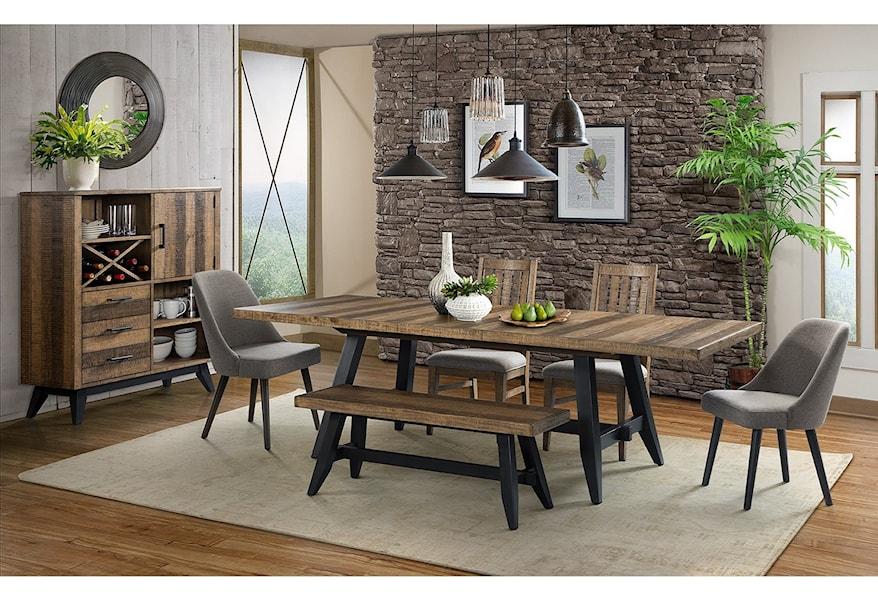 Urban Rustic Formal Dining Room Group