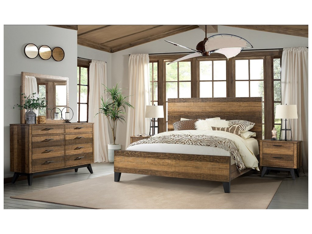 Intercon Urban Rustic King Bedroom Group