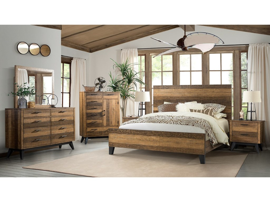 Intercon Urban Rustic Dresser and Mirror