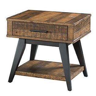 Urban rustic furniture Interior Intercon Urban Rustic End Table Hudsons Furniture Intercon Urban Rustic Urta2426bwhc Rustic Drawer End Table
