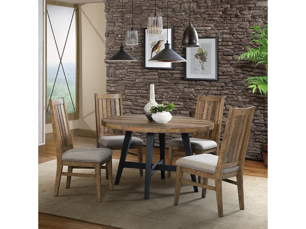 Intercon Urban Rustic 5 Piece Table and Chair Set