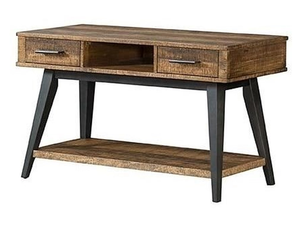 Intercon Urban Rustic Rustic 2 Drawer Sofa Table with 1 Shelf and ...