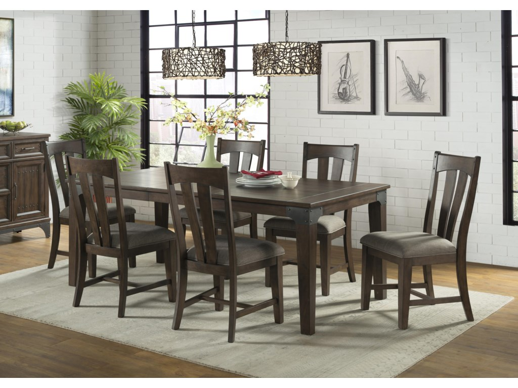 Intercon Whiskey River 5 Piece Table and Chair Set