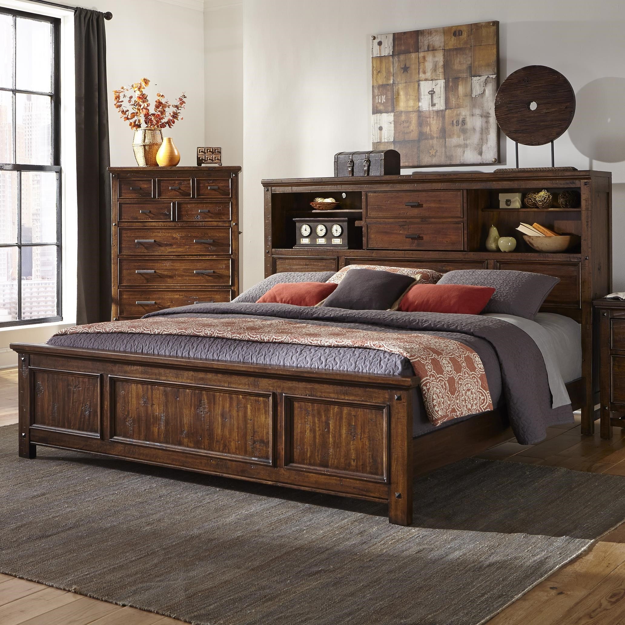 Intercon Wolf Creek King Bookcase Bed Sadler S Home