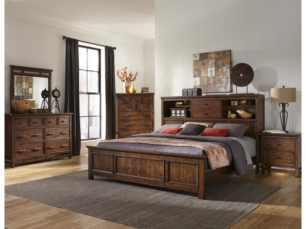 Intercon Wolf CreekKing Bookcase Bed