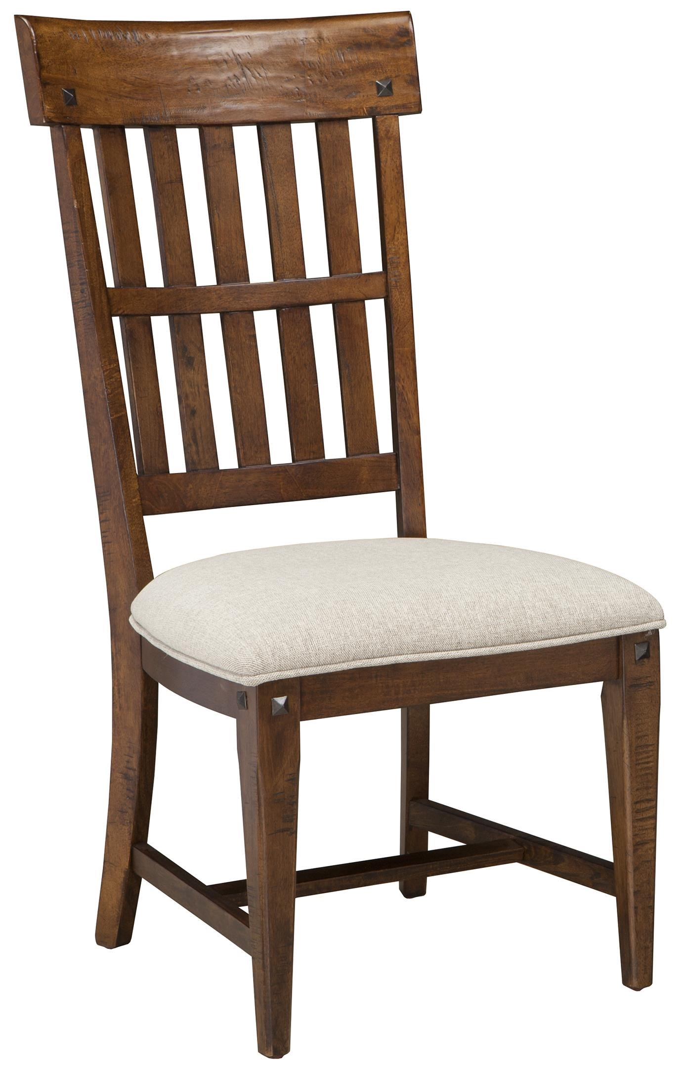 Intercon Wolf Creek Slat Back Side Chair With Cushioned Seat