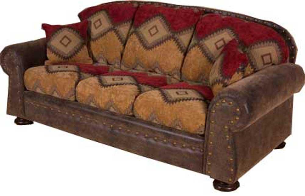 Intermountain Furniture Navajo Southwest Style Sofa Boulevard