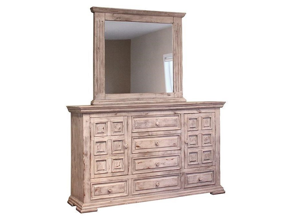 International Furniture Direct 1022 Terra WhiteMirror