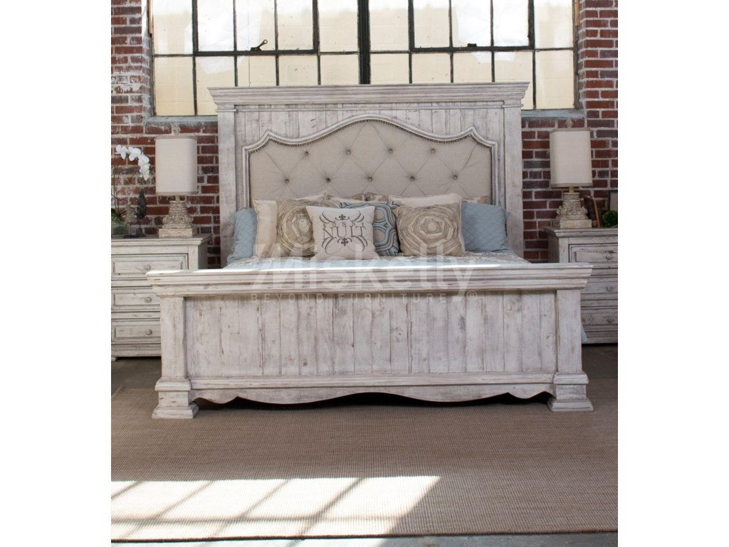 International Furniture Direct 1022 Terra White Queen Upholstered ...