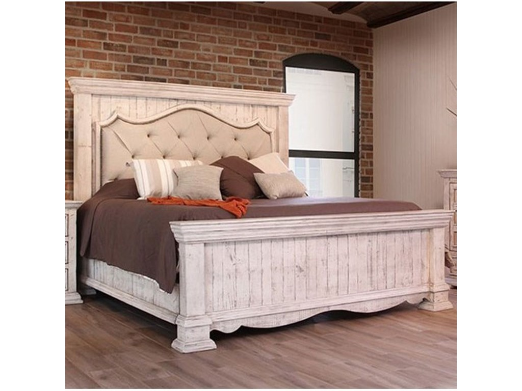 International Furniture Direct Bella King Bed With Upholstered Headboard Howell Furniture Panel Beds