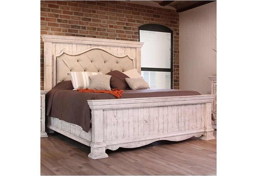 International Furniture Direct Bella King Bed With Upholstered Headboard Furniture And Appliancemart Panel Beds