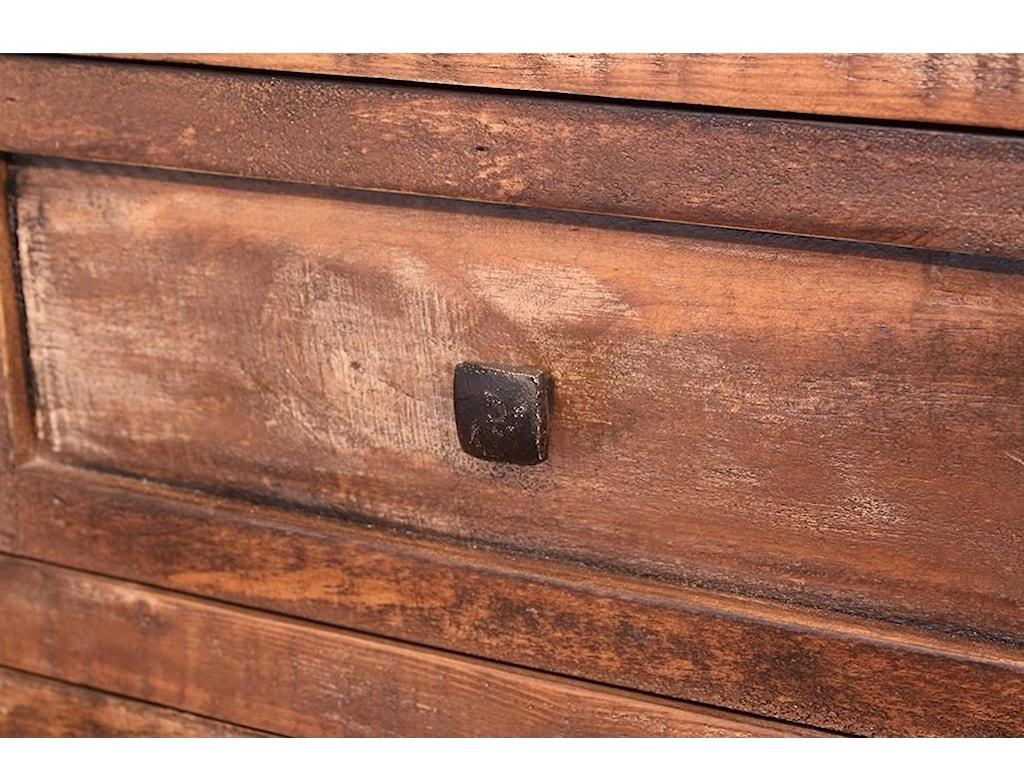 International Furniture Direct Porto7 Drawer Dresser & Mirror