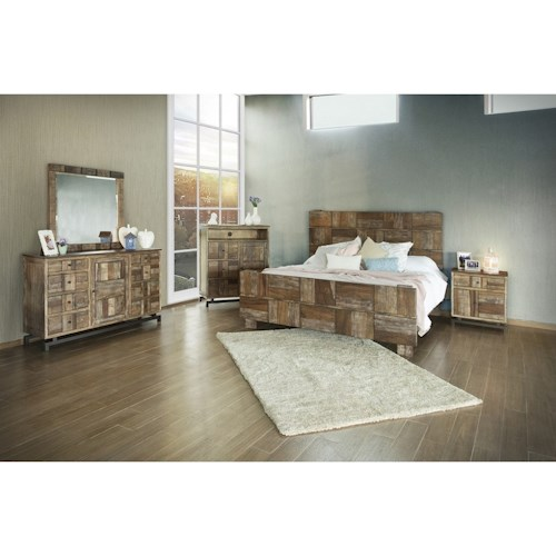 International Furniture Direct Queretaro King Bedroom Group