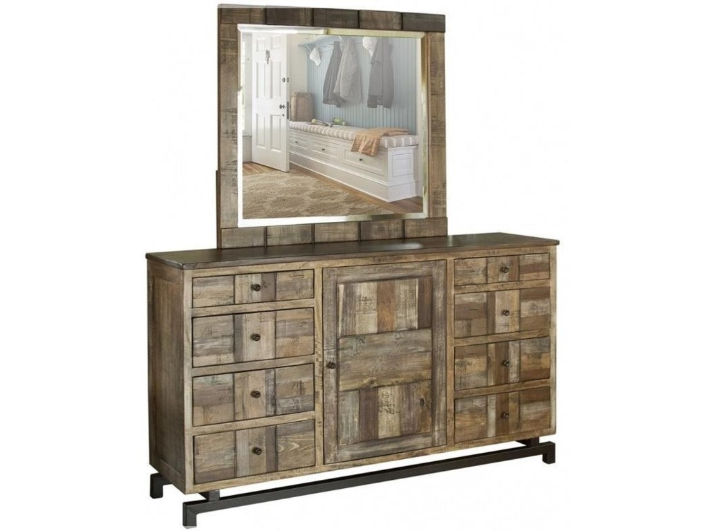 International Furniture Direct 220 QueretaroDresser and Mirror