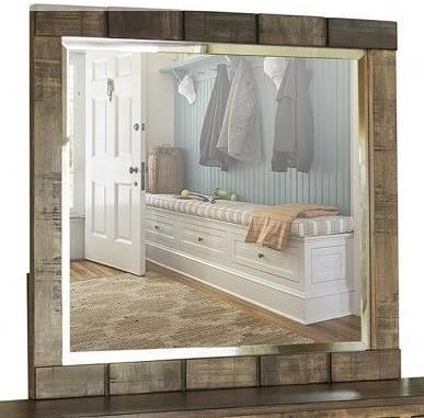 International Furniture Direct Queretaro Rustic Dresser Mirror
