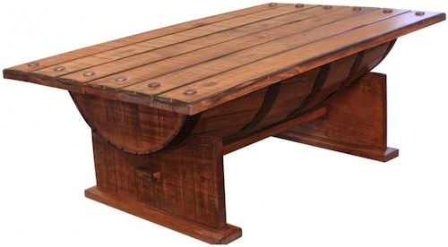 International Furniture Direct Bourbon Barrel Cocktail Table