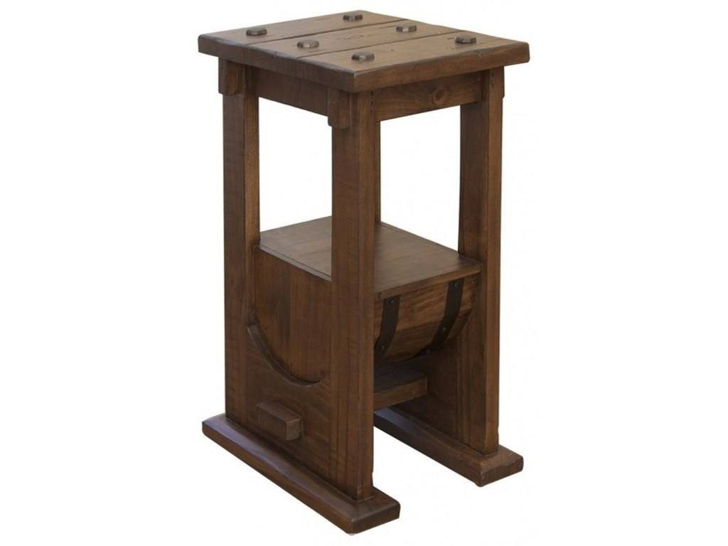 International Furniture Direct BourbonBarrel Chairside Table