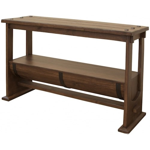 International Furniture Direct Bourbon Industrial Barrel Console Table