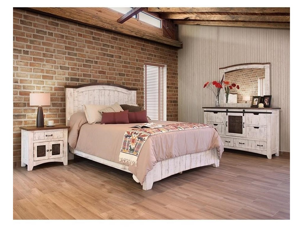 International Furniture Direct Pueblo Queen Bedroom Group Westrich