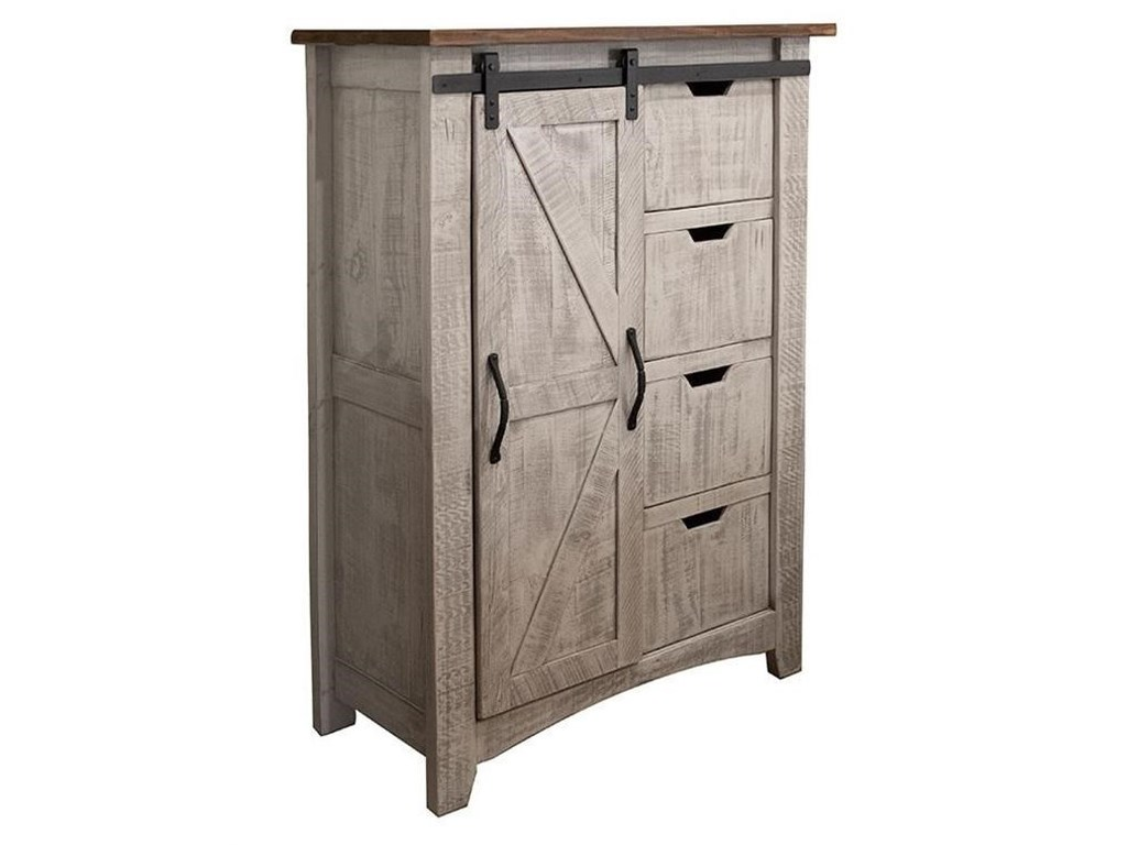 International Furniture Direct PuebloChest with 4 Drawers and 1 Door