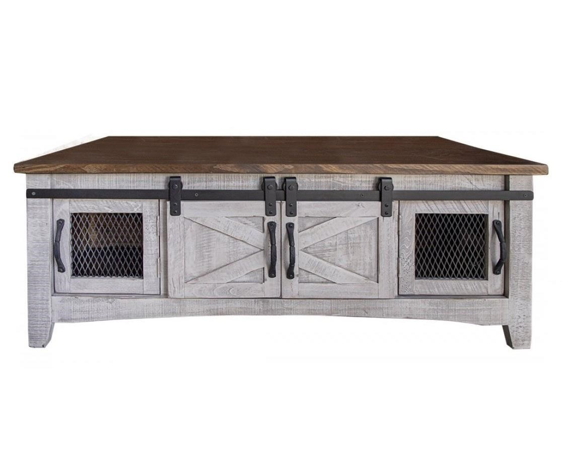 Rustic Cocktail Table with 8 Doors