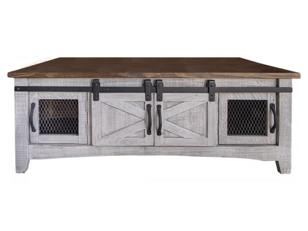 International Furniture Direct PuebloCocktail Table with 8 Doors