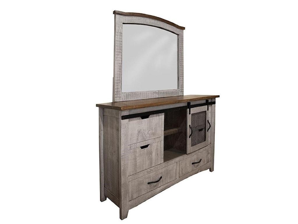 International Furniture Direct PuebloDresser and Mirror