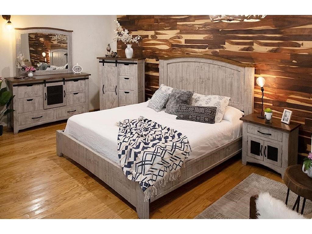 International Furniture Direct PuebloDresser with 6 Drawers and 1 Door