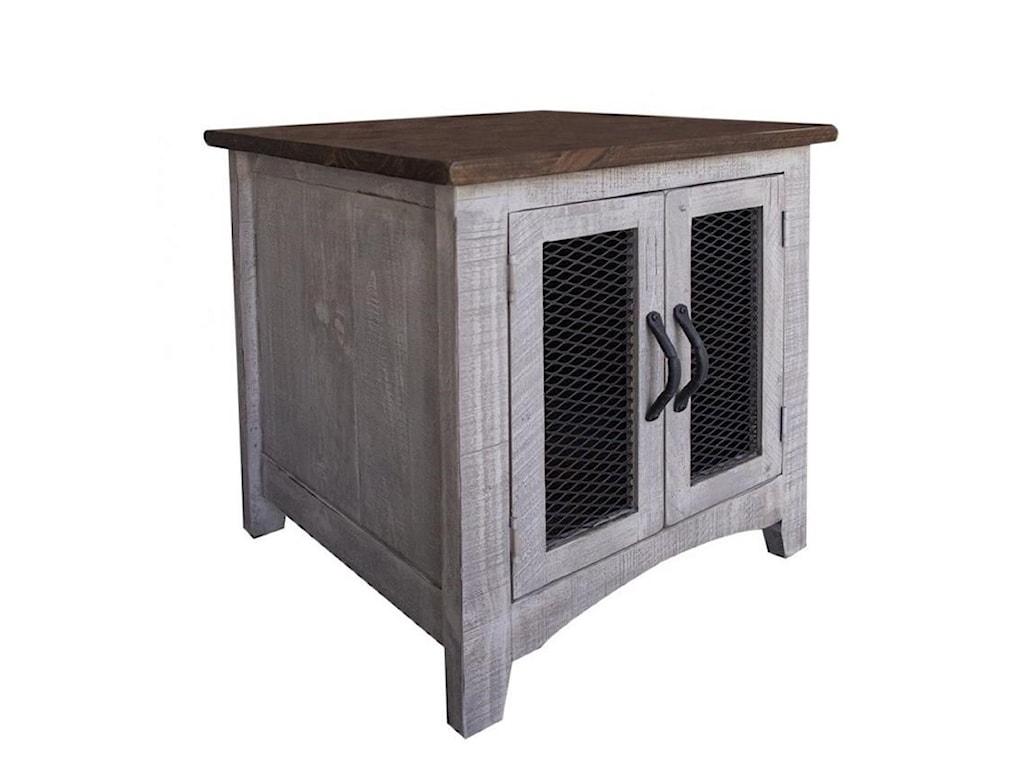 International Furniture Direct PuebloEnd Table with 2 Doors