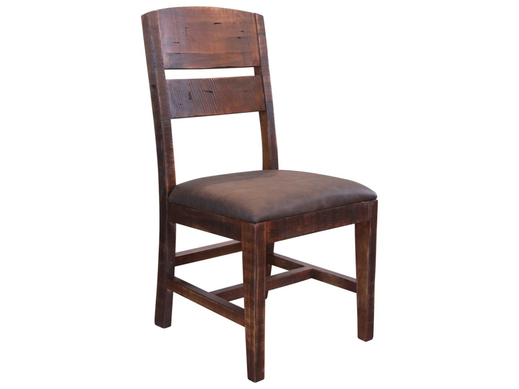 International Furniture Direct PuebloChair with Solid Wood Back