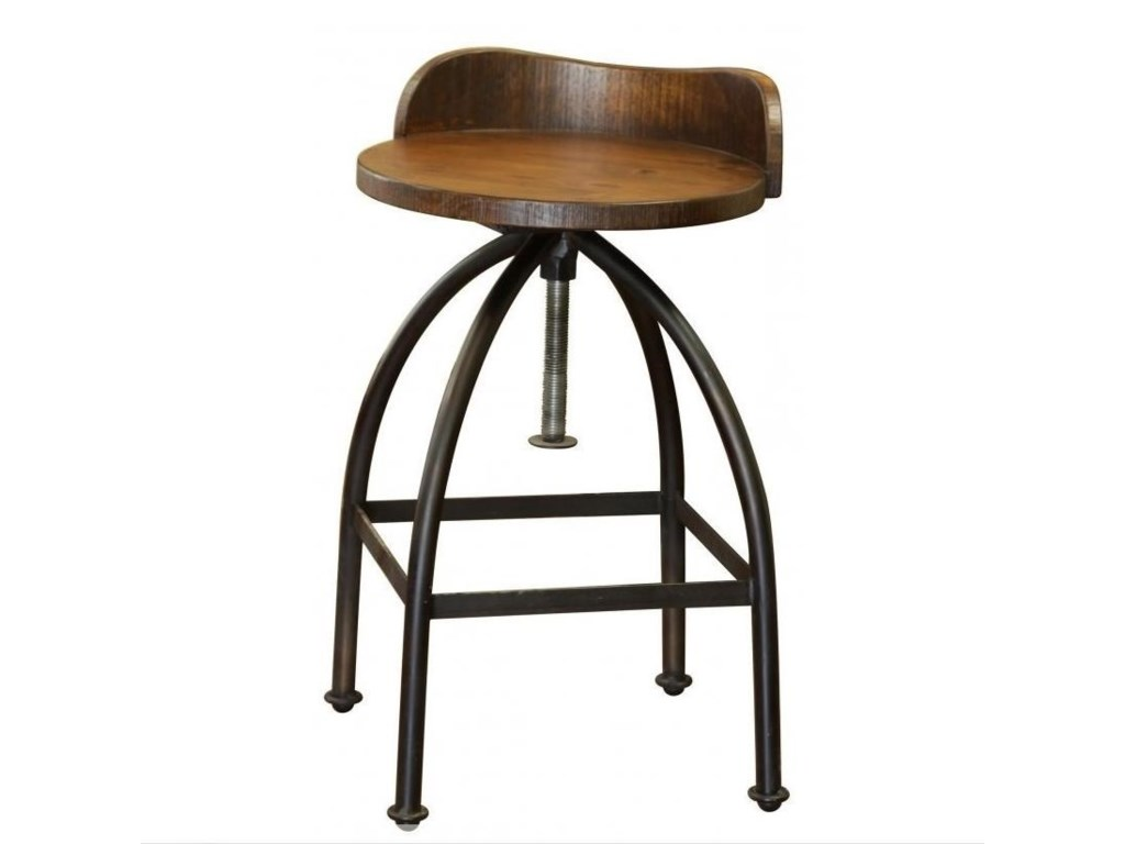 Muebles de Mexico PuebloAdjustable Height Swivel Bar Stool