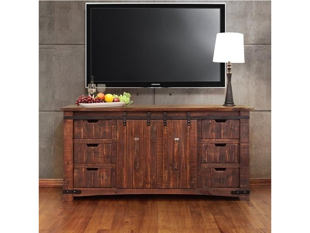 International Furniture Direct Pueblo Ifd359stand 70 70 Tv Stand