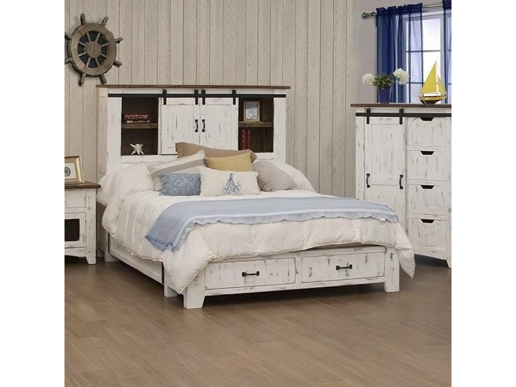 International Furniture Direct Pueblo5/0 Storage Bed