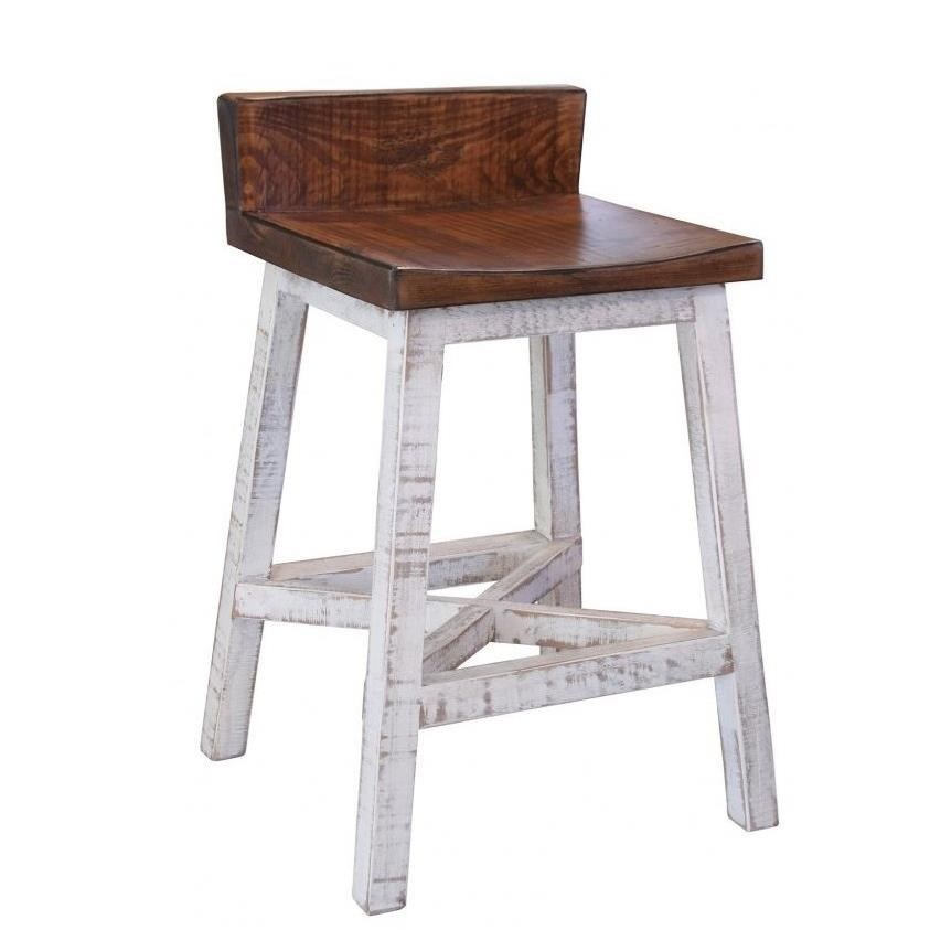 International furniture direct pueblo 24 counter height stool with low back