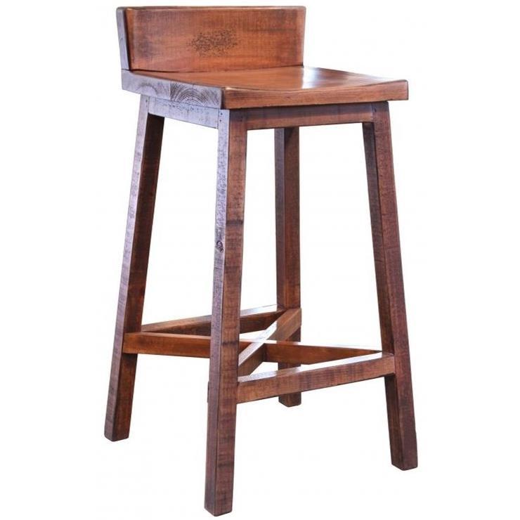 Picture of: International Furniture Direct Pueblo Ifd360bs30 Solid Wood Bar Stool Sam Levitz Furniture Bar Stools