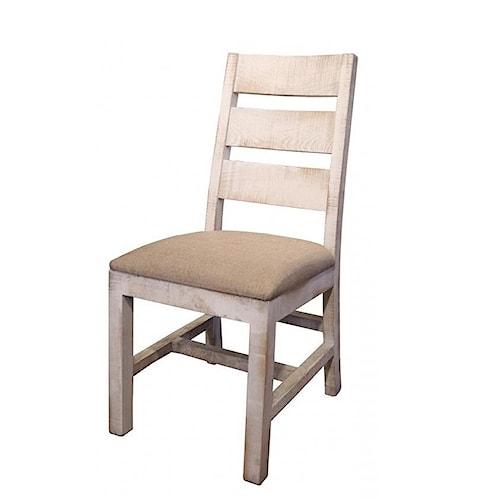 International Furniture Direct Pueblo Rustic Upholstered Side Chair