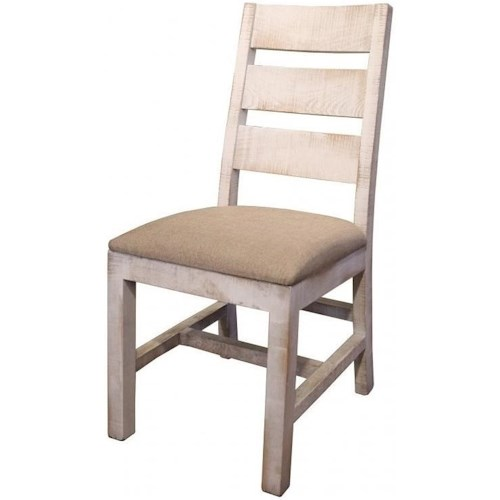 International Furniture Direct Pueblo Rustic Upholstered Side Chair
