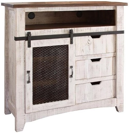 Artisan Home Pueblo TV Stand with Sliding Mesh Door