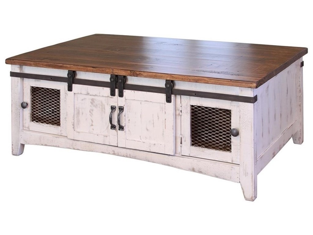 International Furniture Direct Pueblo Rustic Cocktail Table With
