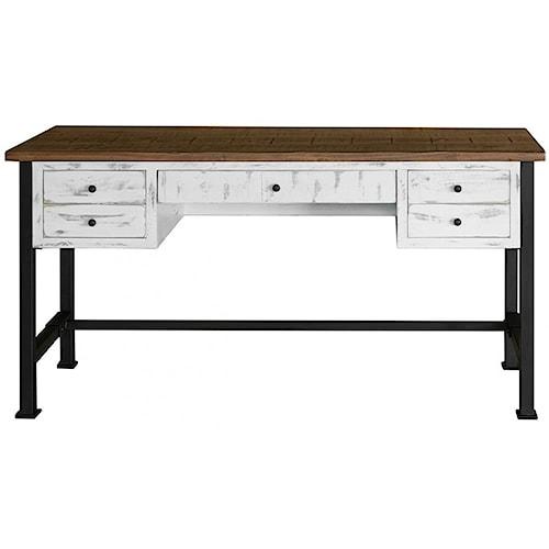 International Furniture Direct Pueblo 4 Drawer Writing Desk
