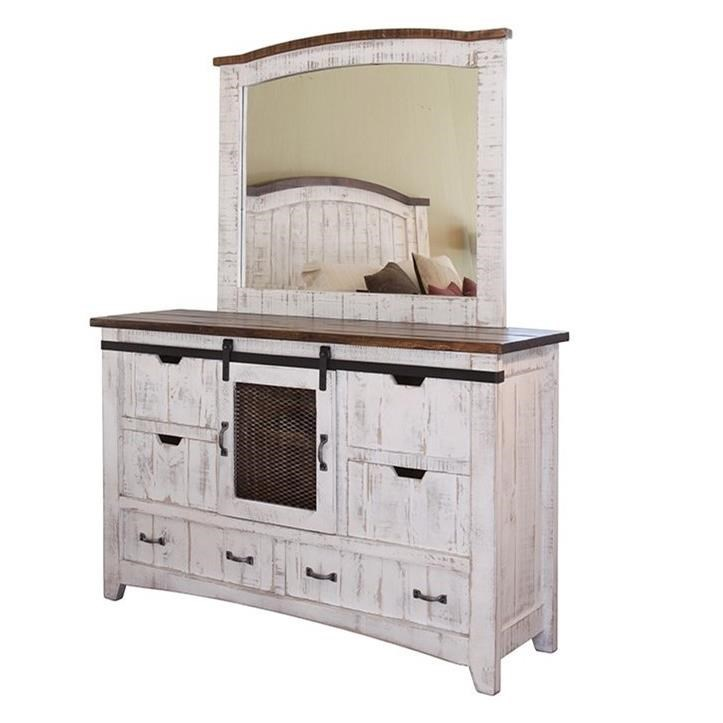 International Furniture Direct PuebloDresser And Mirror Set ...
