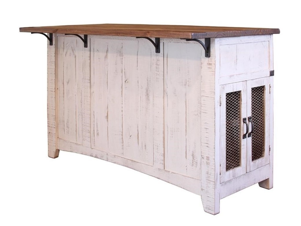 International Furniture Direct PuebloKitchen Island
