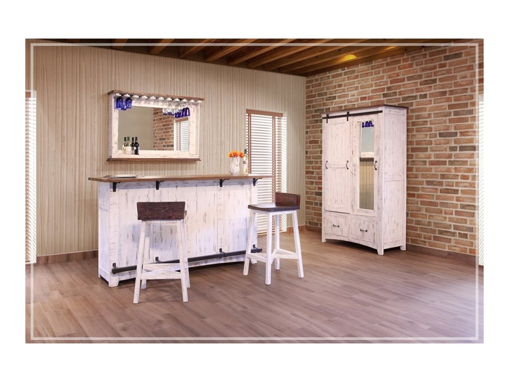 International Furniture Direct PuebloMirror Bar
