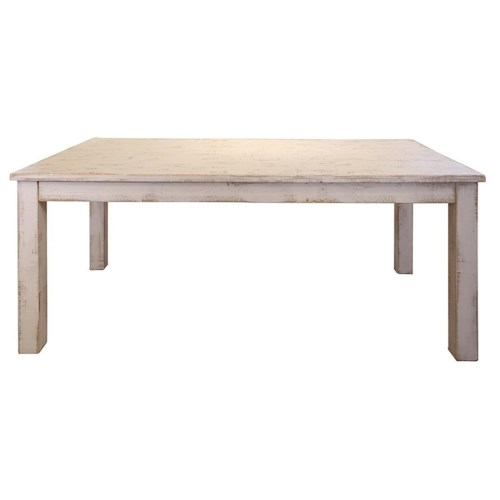 International Furniture Direct Pueblo Rustic Wood Dining Table
